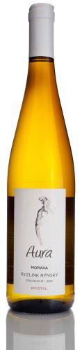 Aura Vini Ryzlink rýnský Lužice Na stráni 2015 pozdní sběr 0,75l šarže:5401