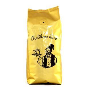 Káva Frolík /pražená zrnková/Hejtman/směs 60%  Arabica,40% Robusta  v sáčku 500g