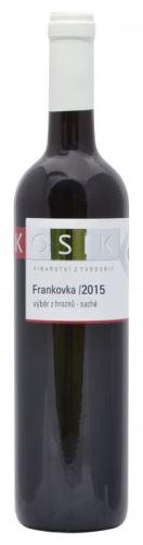 Kosík Frankovka 2015 pozdní sběr 0,75