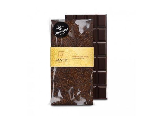 JANEK Čokoláda hořká s kávou