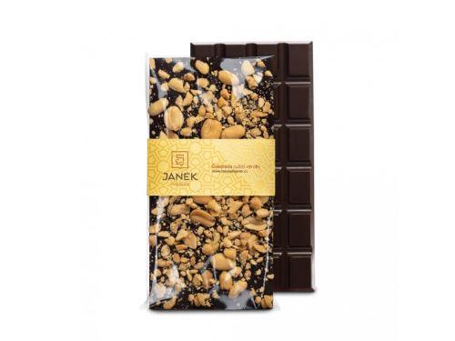 JANEK Čokoláda hořká s arašídy