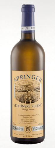 Springer Pavel Veltlínské zelené 2014 pozdní sběr 0,75